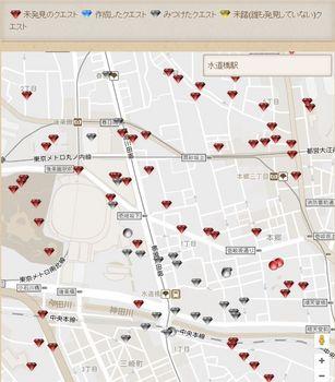 まちクエスト攻略マップ(JR水道橋駅周辺).JPG