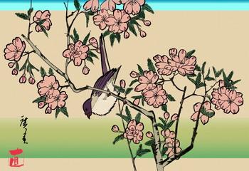 桜と鳥(三代目歌川広重).jpg